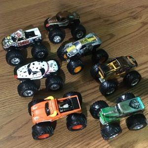 Lot of 7 Hot Wheels Monster Jams Trucks